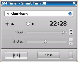 Free PC shutdown timer (Smart Turn Off not installed)
